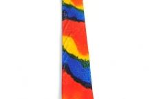 Necktie painted silk mens tie red blue yellow silk tie