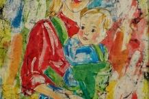 Wax Batik Mother and Baby